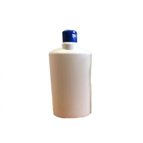 Fľaša ADAM biela HDPE 0,5l + uzáver