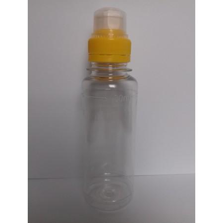 943-Fľaša na dezinfekčný gél priesvitná  0,1l +uzáver