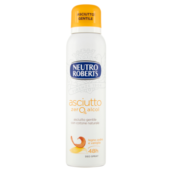 DEO SPRAY - NEUTRO ROBERTS deo spray Asciutto legno Cedro/Vaniglia, 150ml