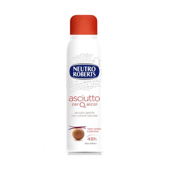 DEO SPRAY - NEUTRO ROBERTS deo spray Asciutto legno Sandalo e Patchouli, 150ml