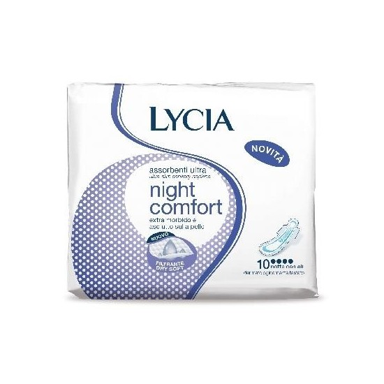 NOČNÉ VLOŽKY - LYCIA assorbenti ultra Night comfort. 10ks
